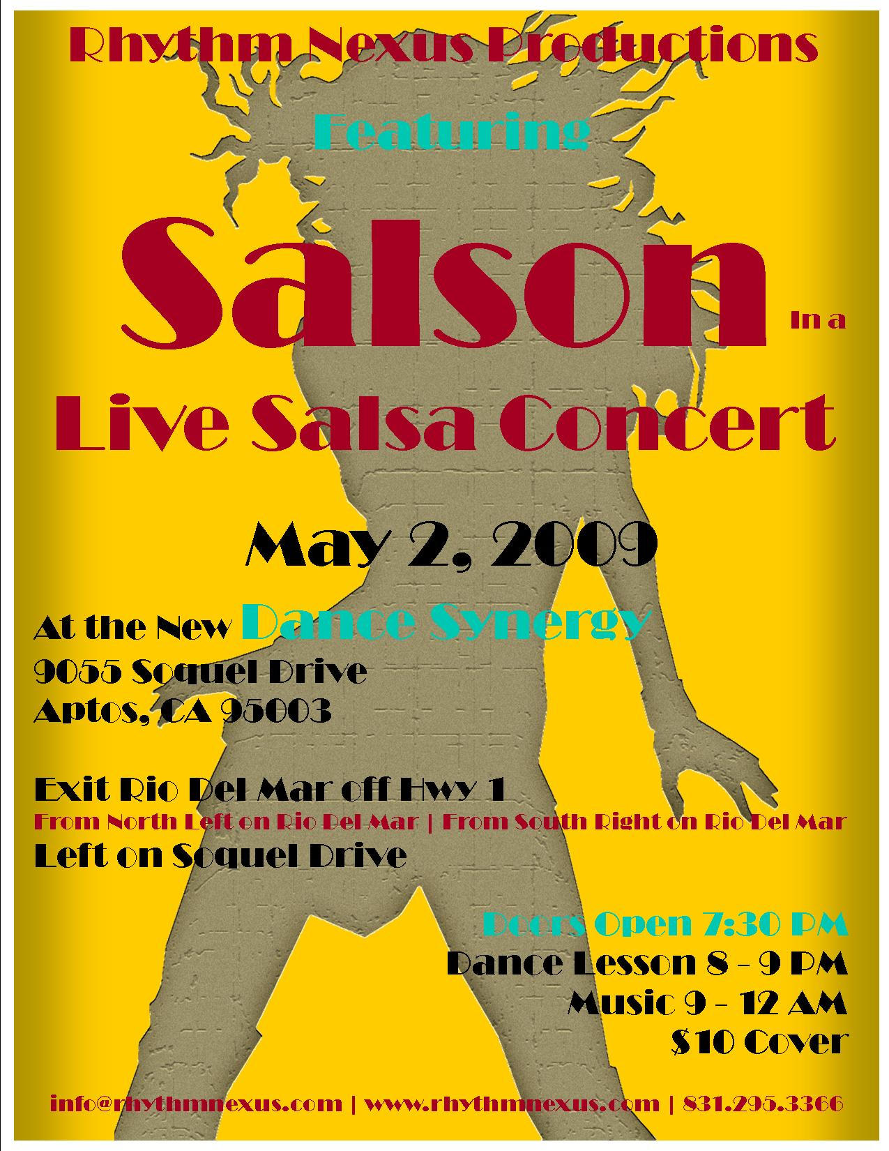 Salson at Dance Synergy, Saturday Aptos May 2